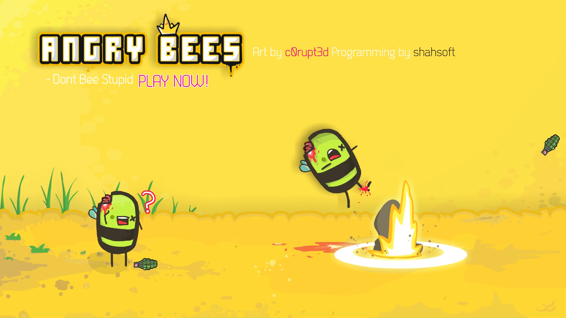 Angry Bee's Wallpaper