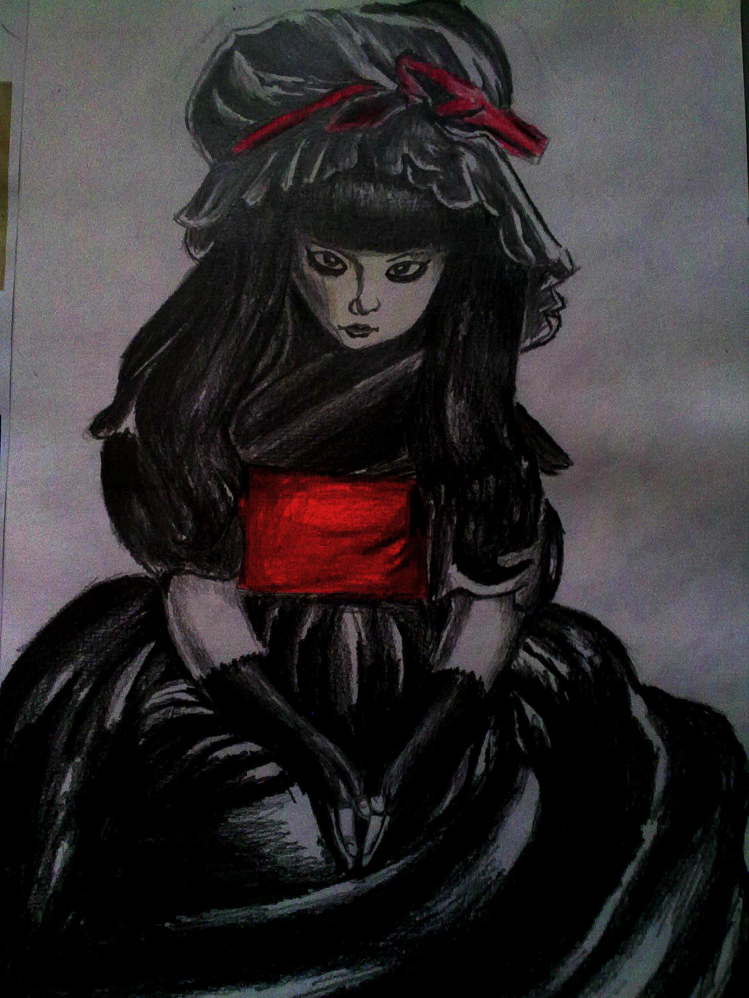 little gothic girl