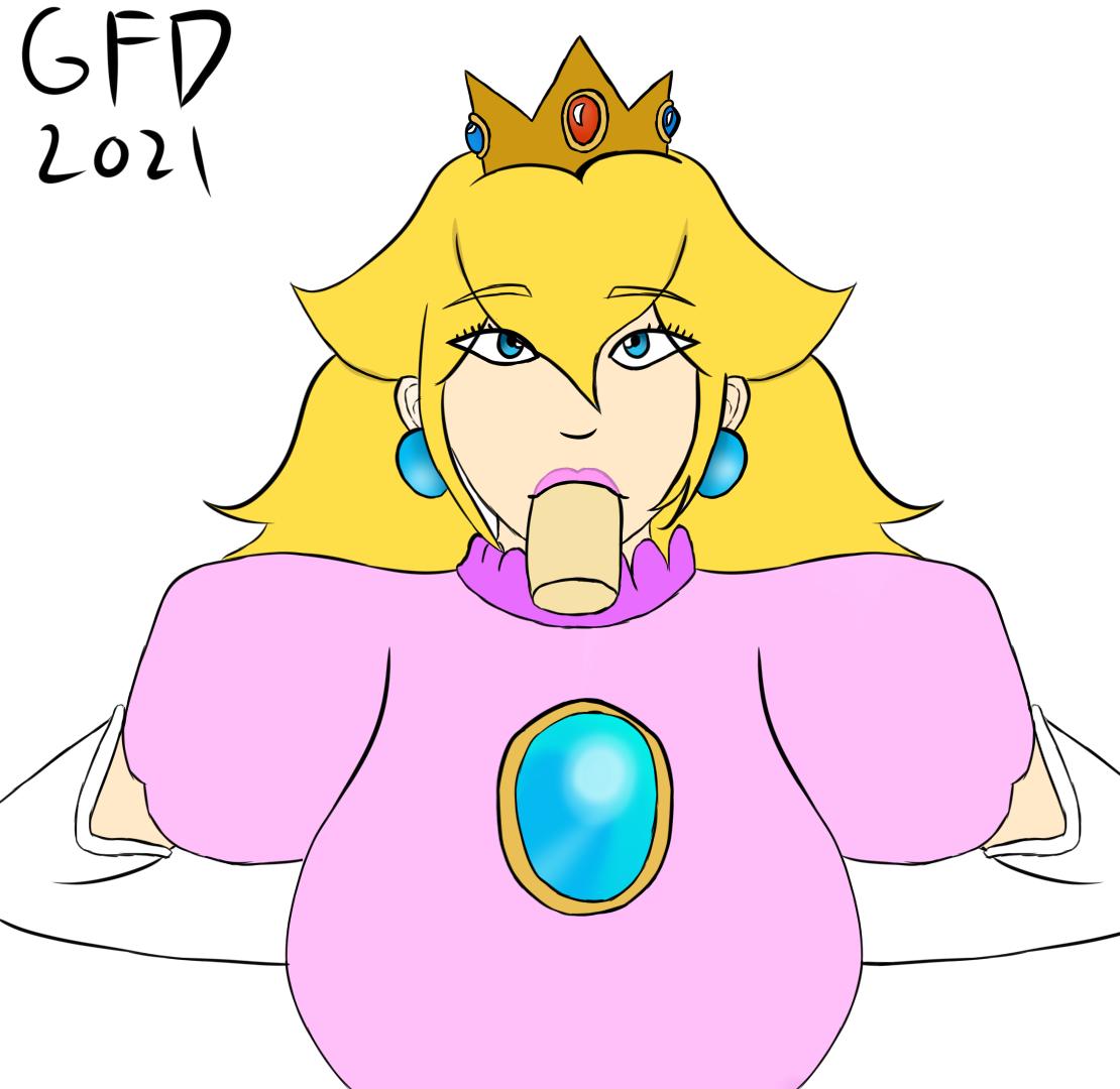 Blowjob peach Princess Peach