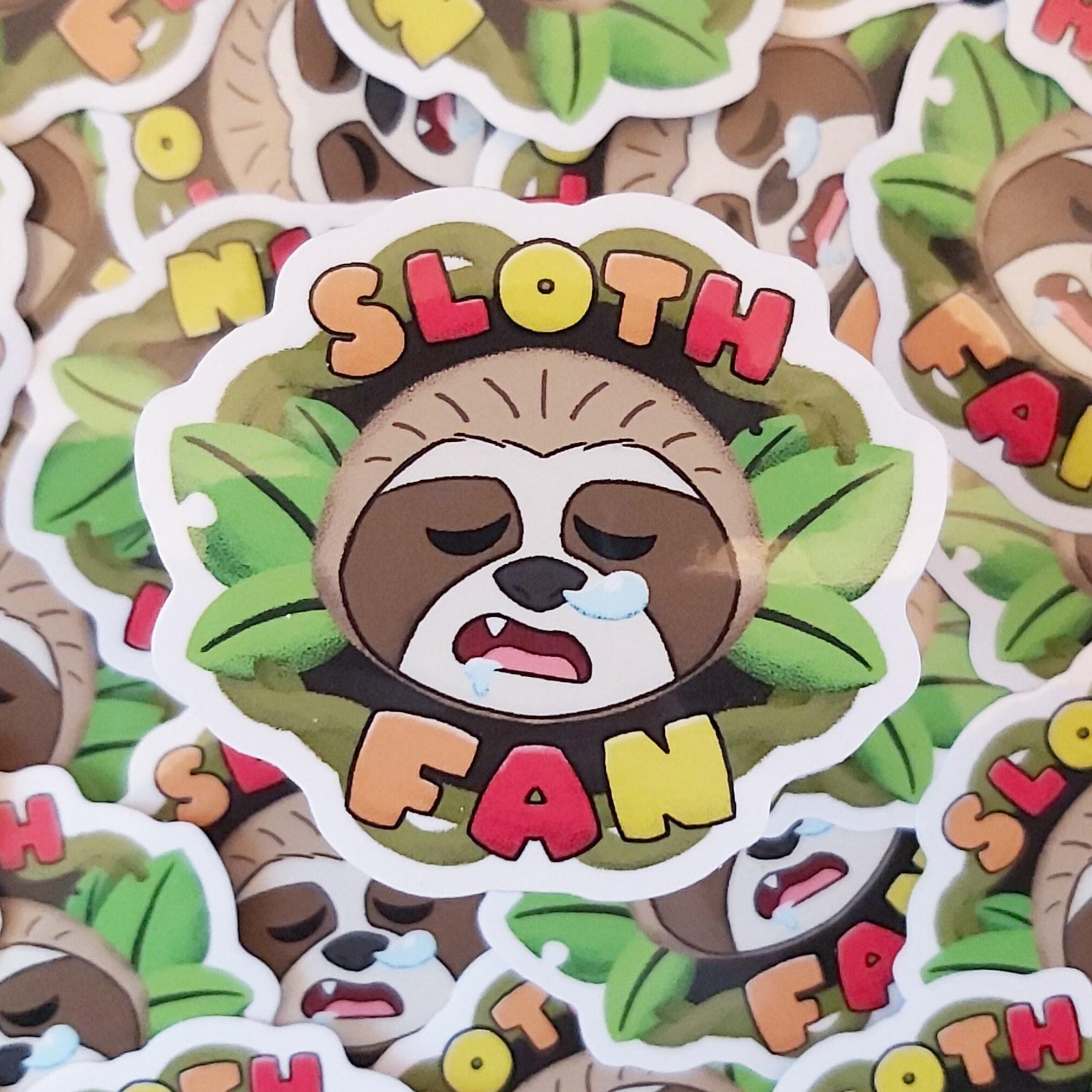 Sloth Fan Stickers