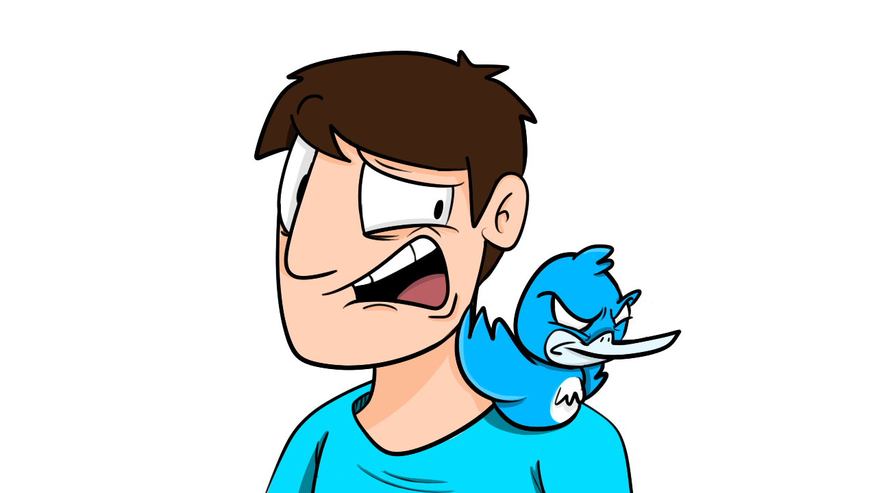 Vic and his Twitter Bird
