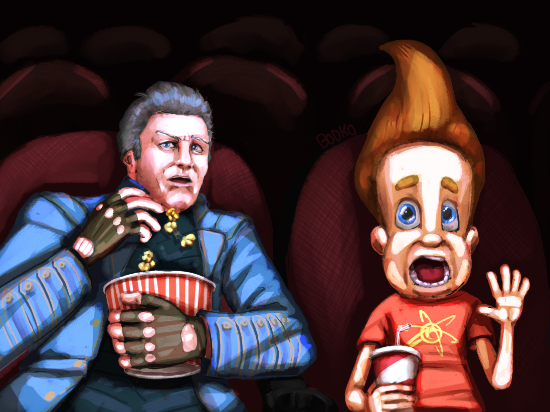 Vergil and Jimmy go to the movies