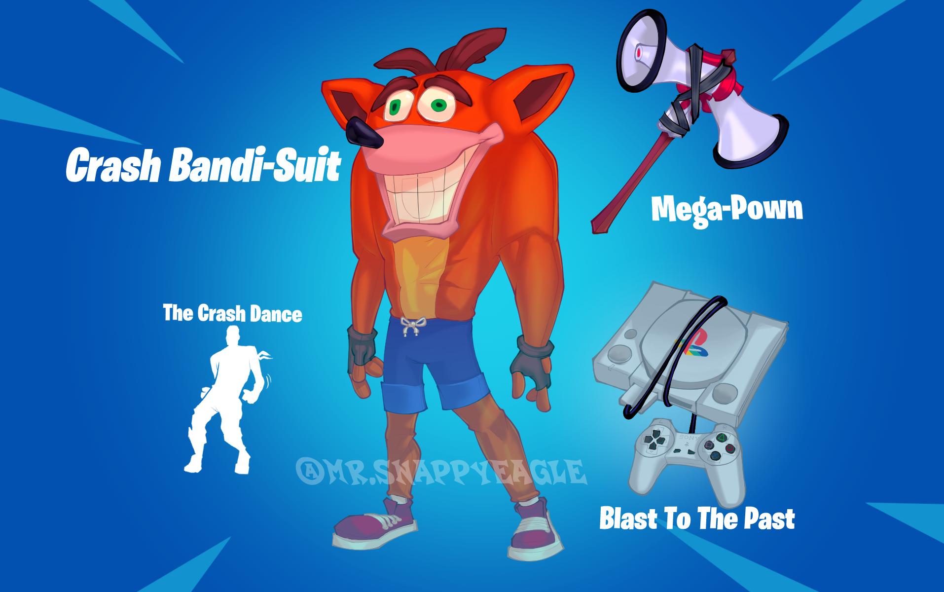 Crash Bandi-Suit Fortnite Concept