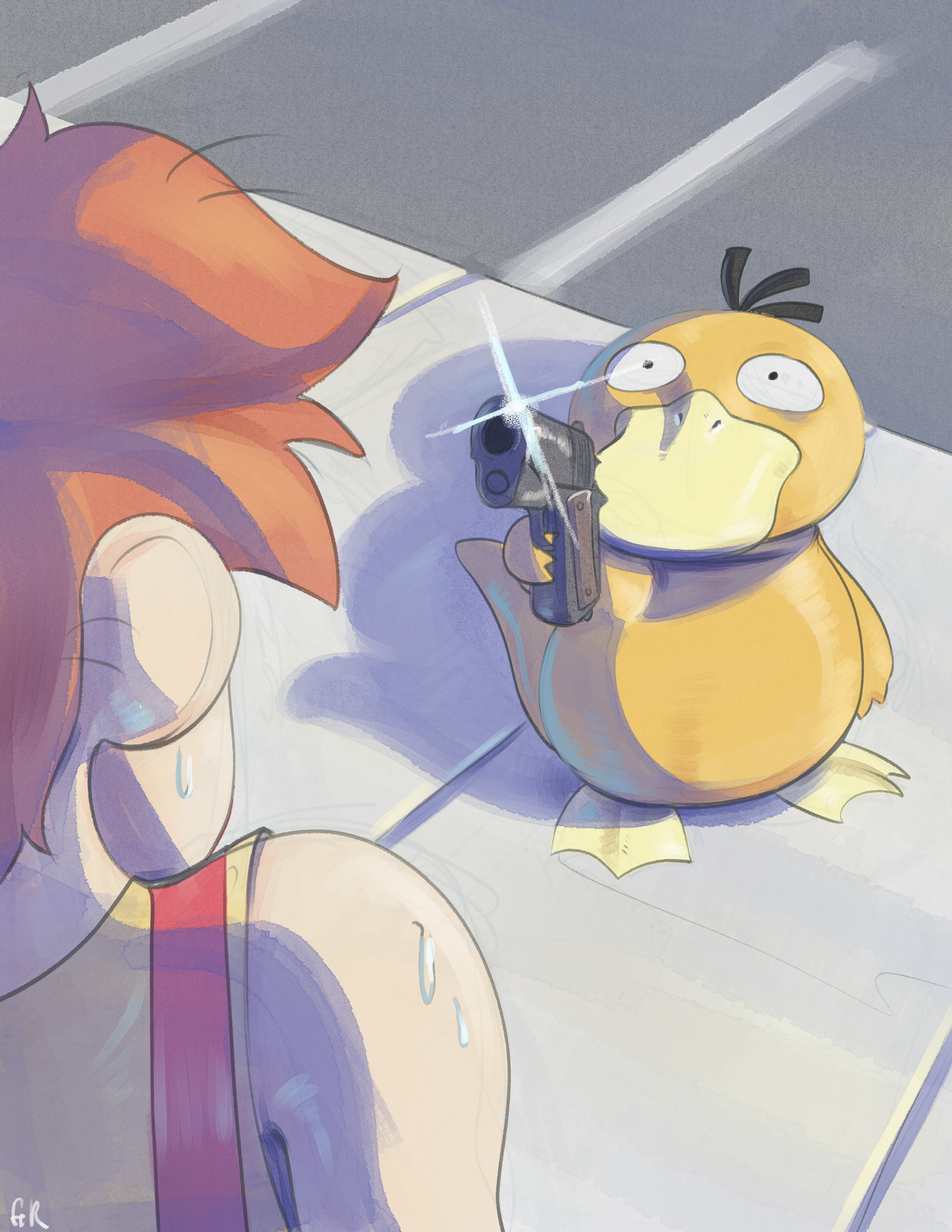 Psyduck with the Gat