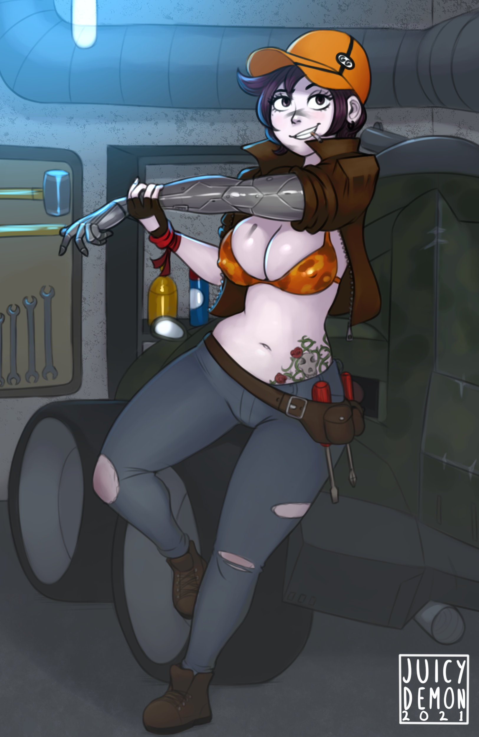 Commission - Wolf the Mechanic