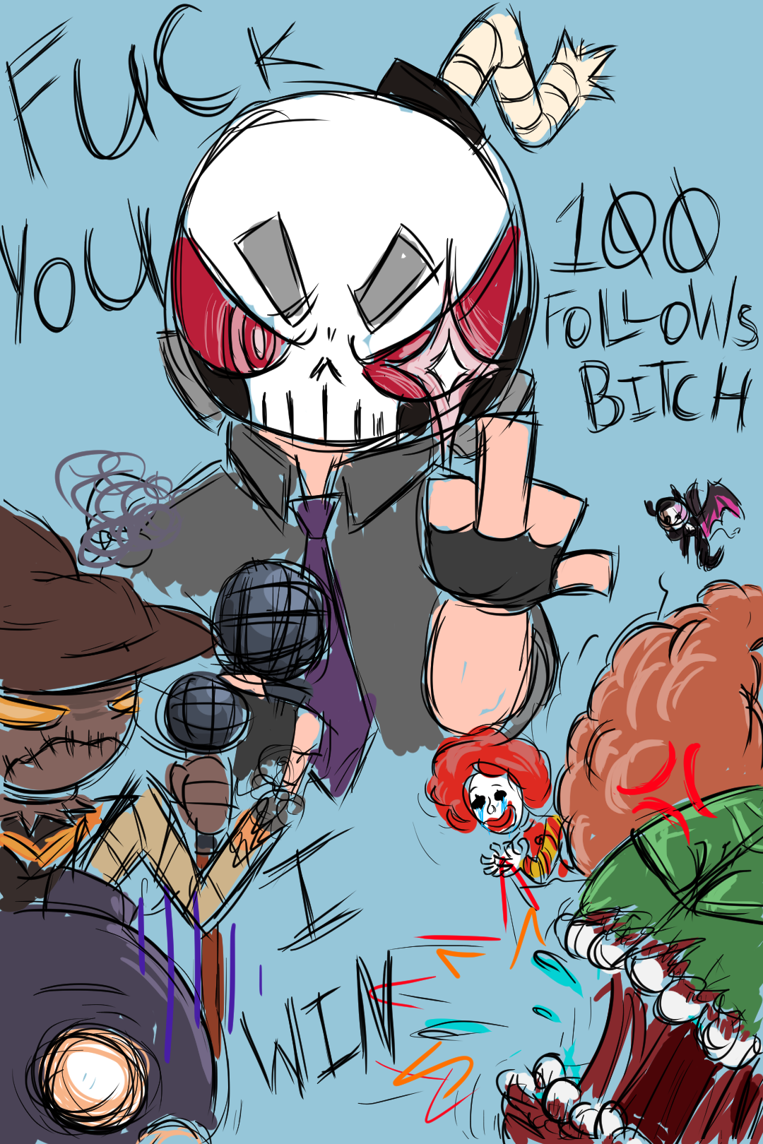 Art I Made for my 100 Follower Milestone on Twitch :]