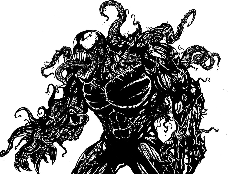 Ultimate Venom Lineart