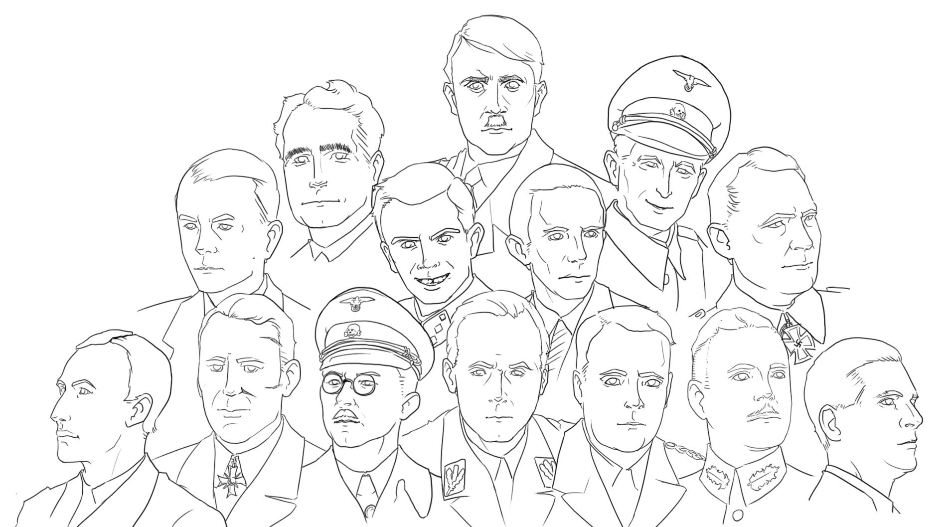 Nazi Rollcall portraits