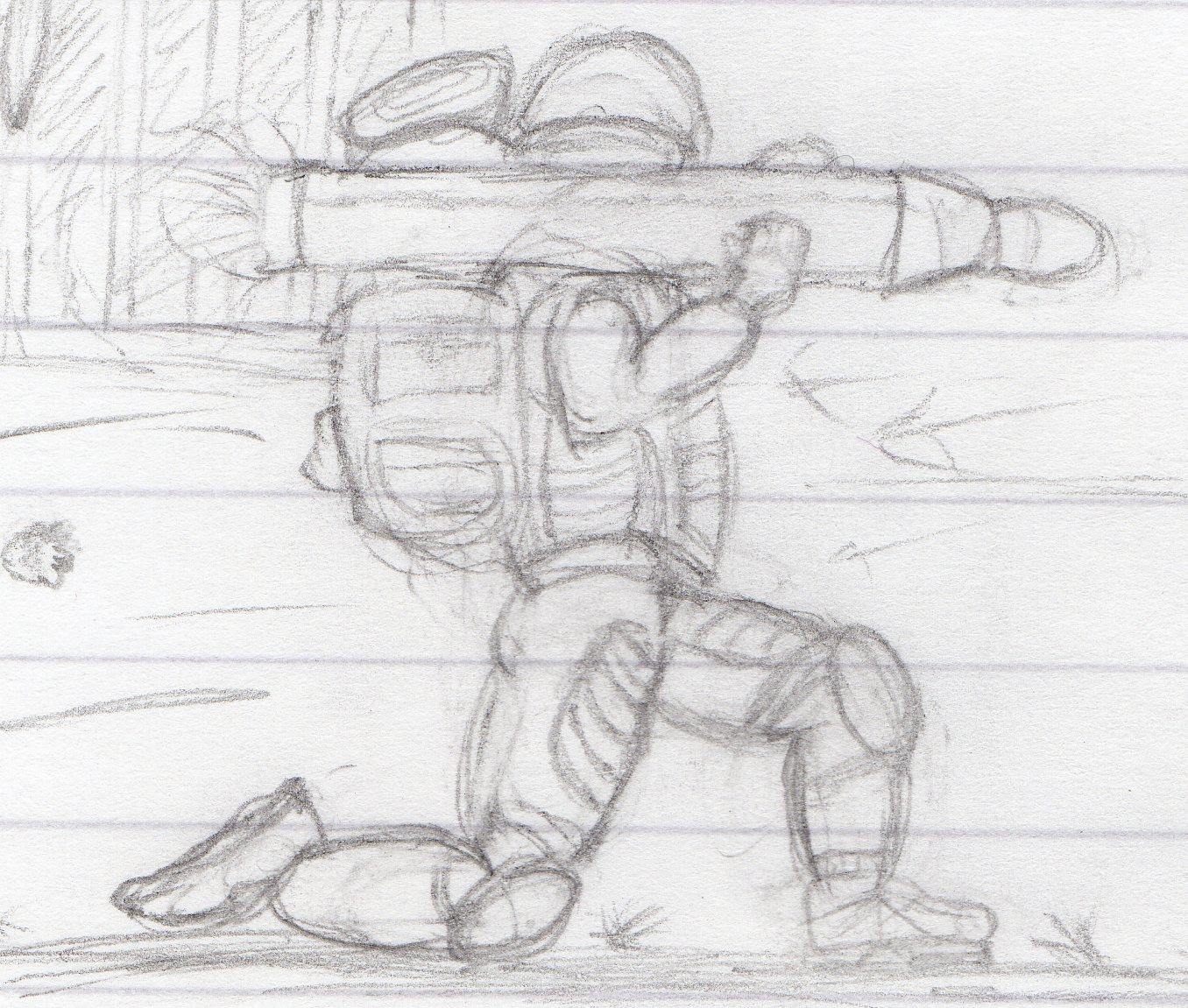 First Drawing - Soldier