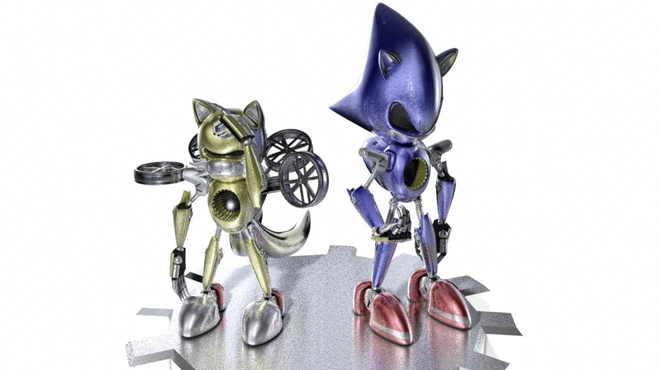 Metal Sonic and Tails
