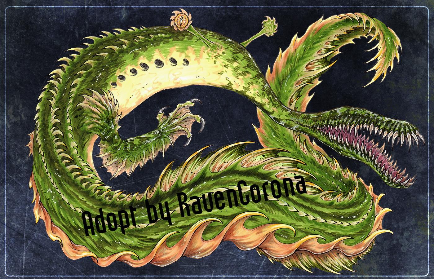 [CLOSED] Tullimonstrum Dragon ~ Adoptable Auction