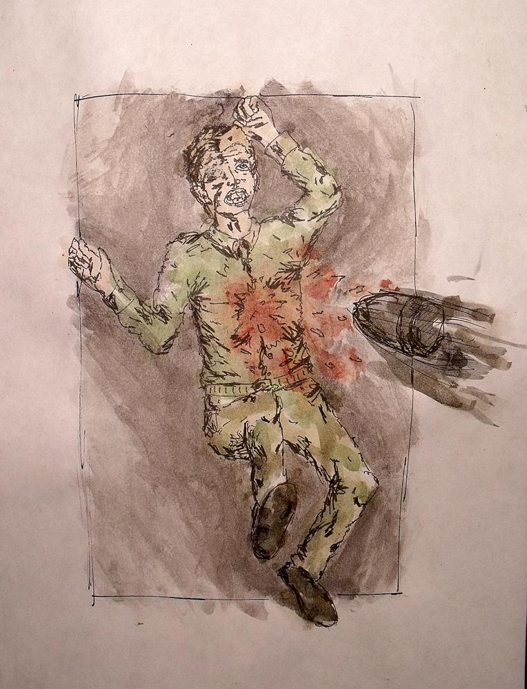 Sterbender Soldat