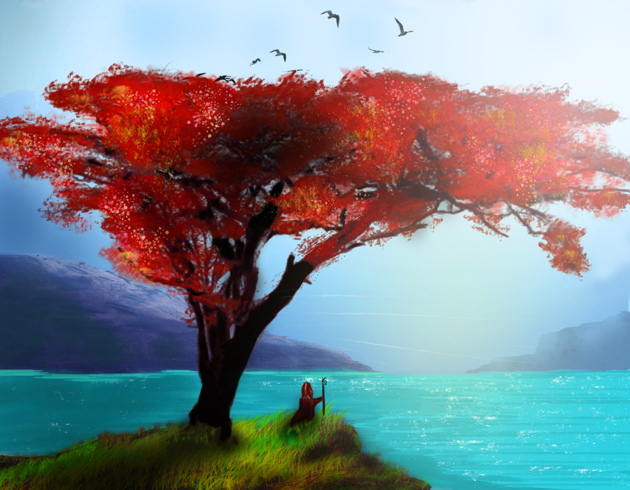 Red Cliffside