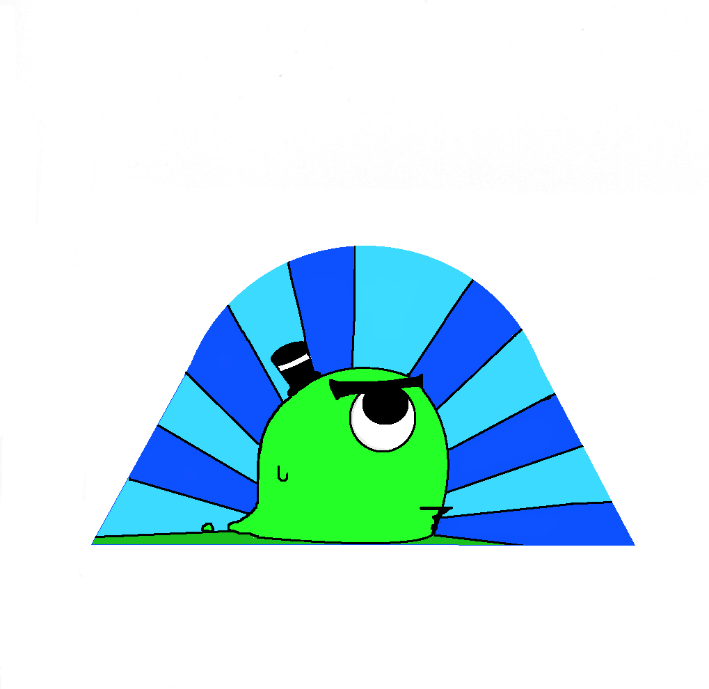 Blob with a hat