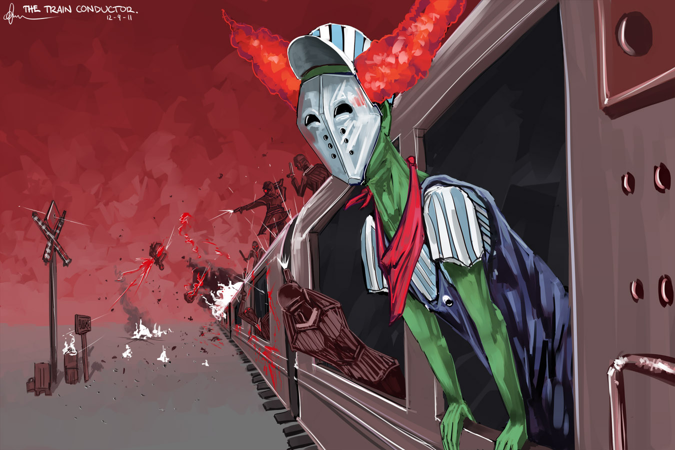 The Train Conductor.