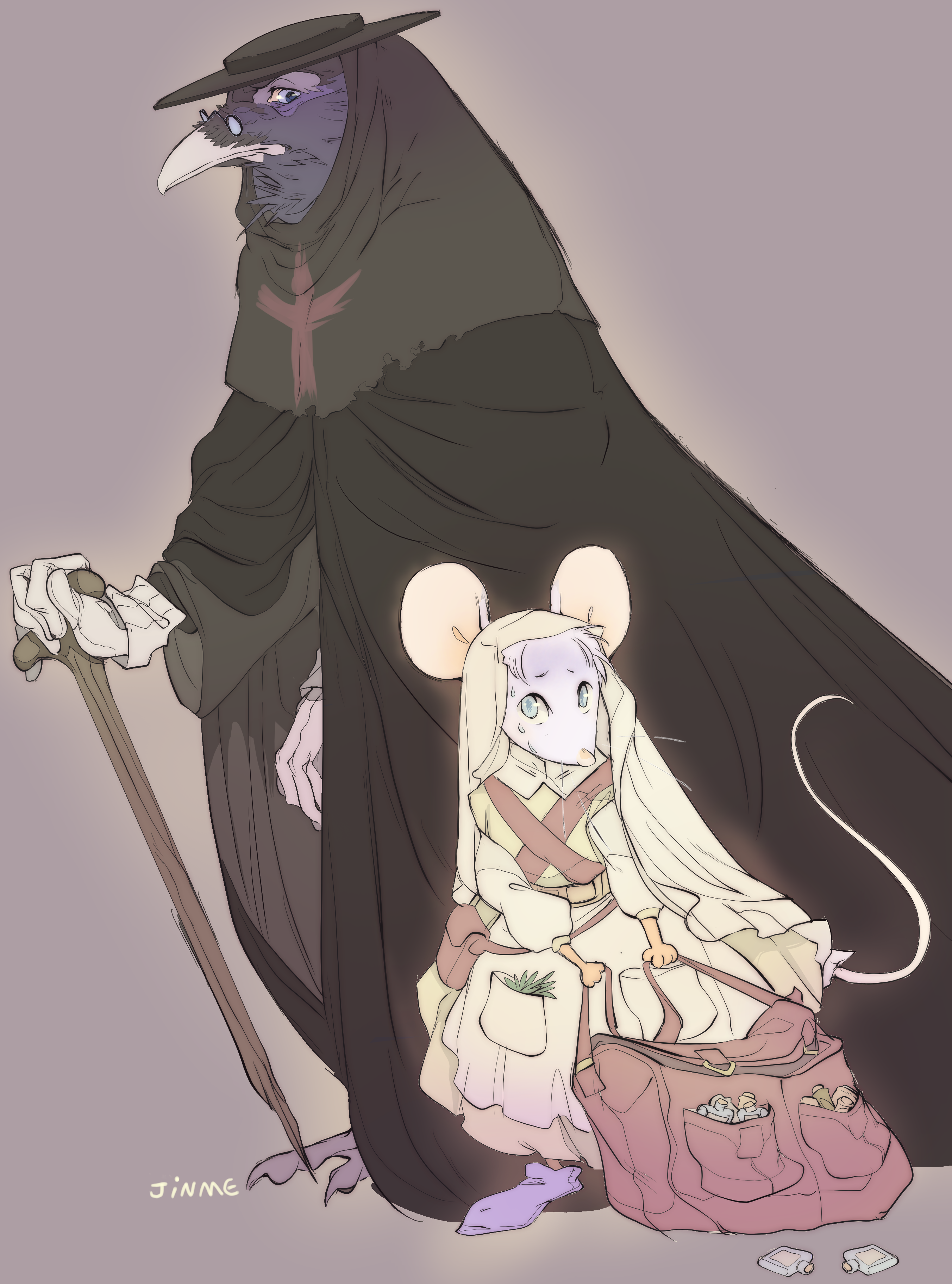 Crow doctor and his mouse assistent (2020)