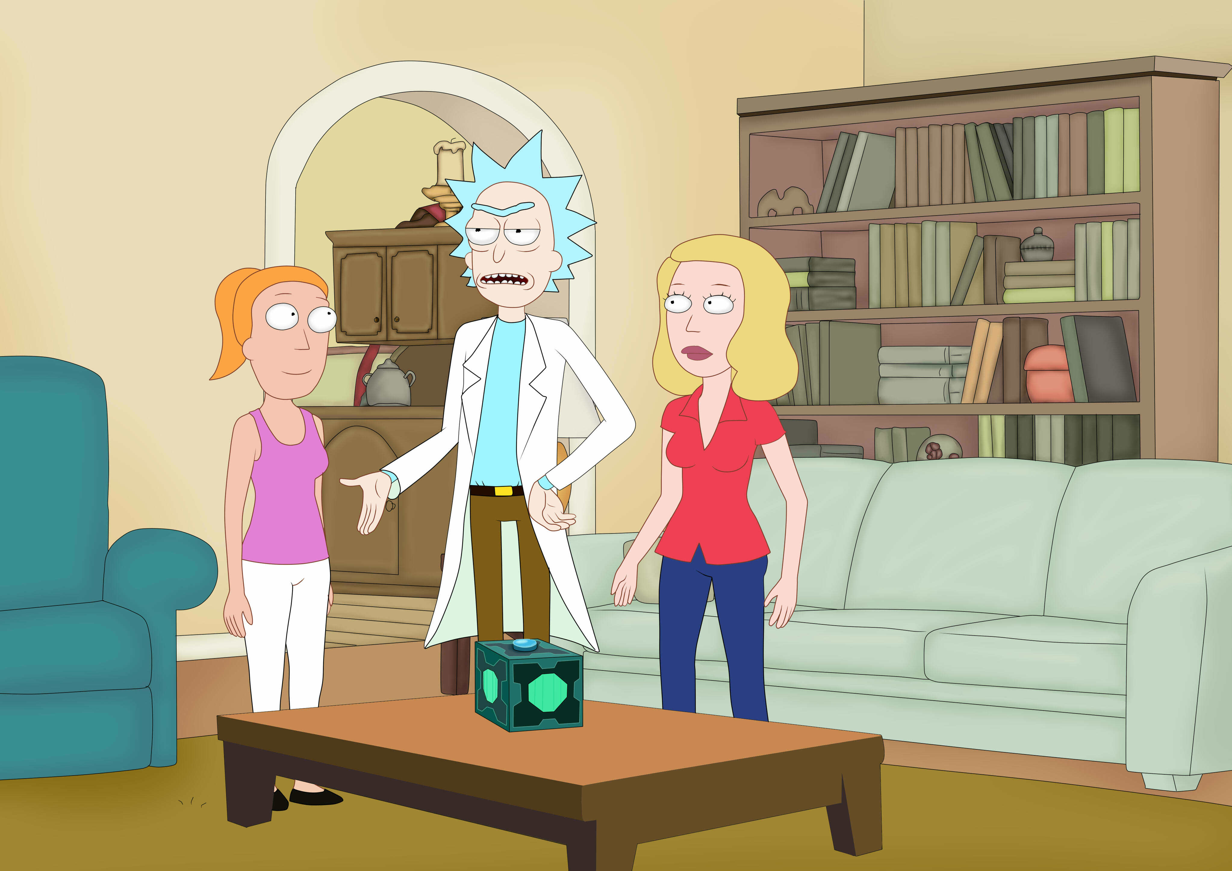 rick and morty (Beth and Summer)