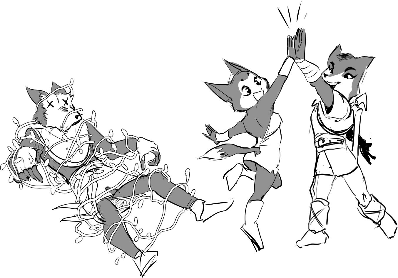 krystal and sabre save randorn