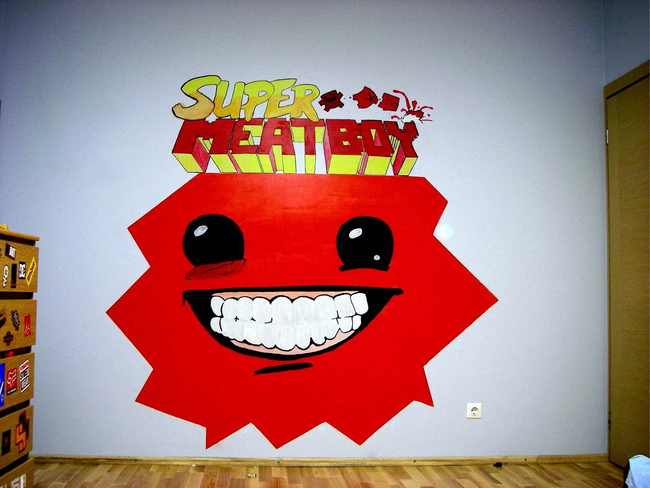 Super Meat Wall