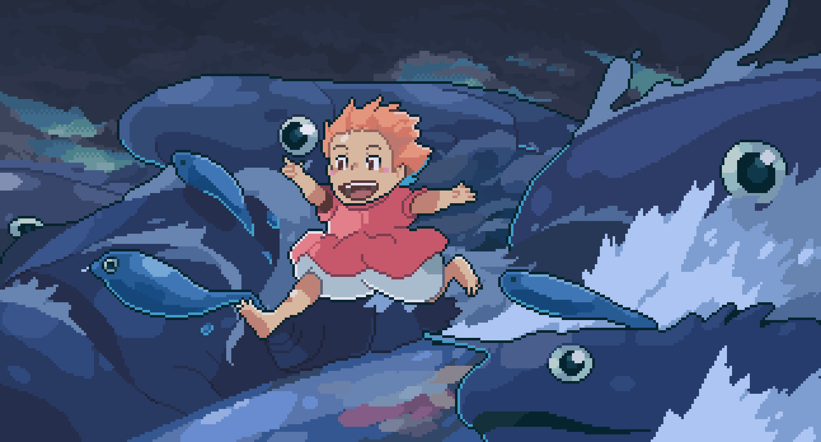 Recreated a scene from Ponyo! 🌊