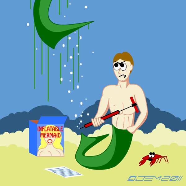 Inflatable Mermaid