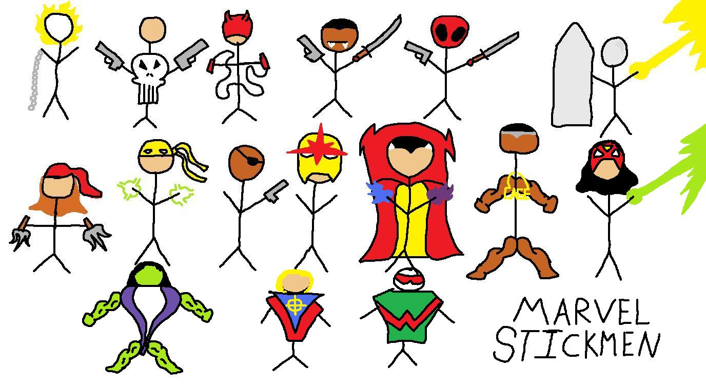 Marvel Stickmen