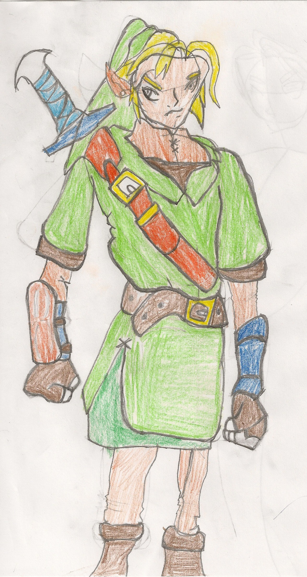 Crude Link Drawing