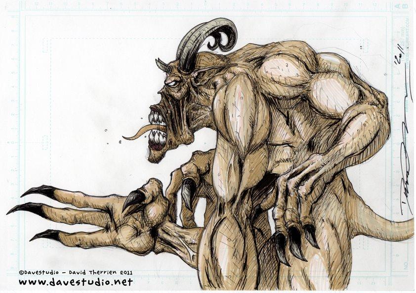 4 arms demon