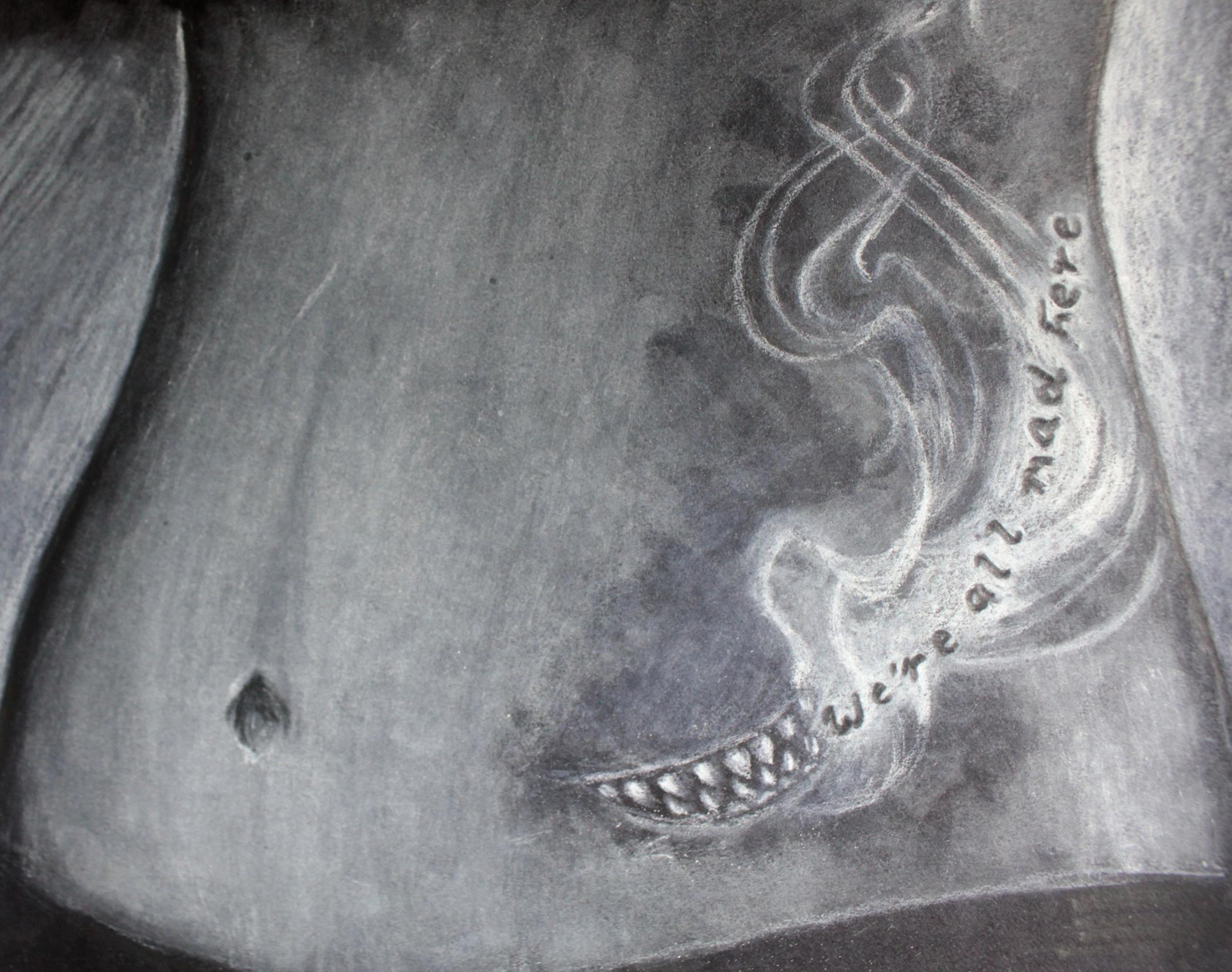 Cheshire Smile Tattoo