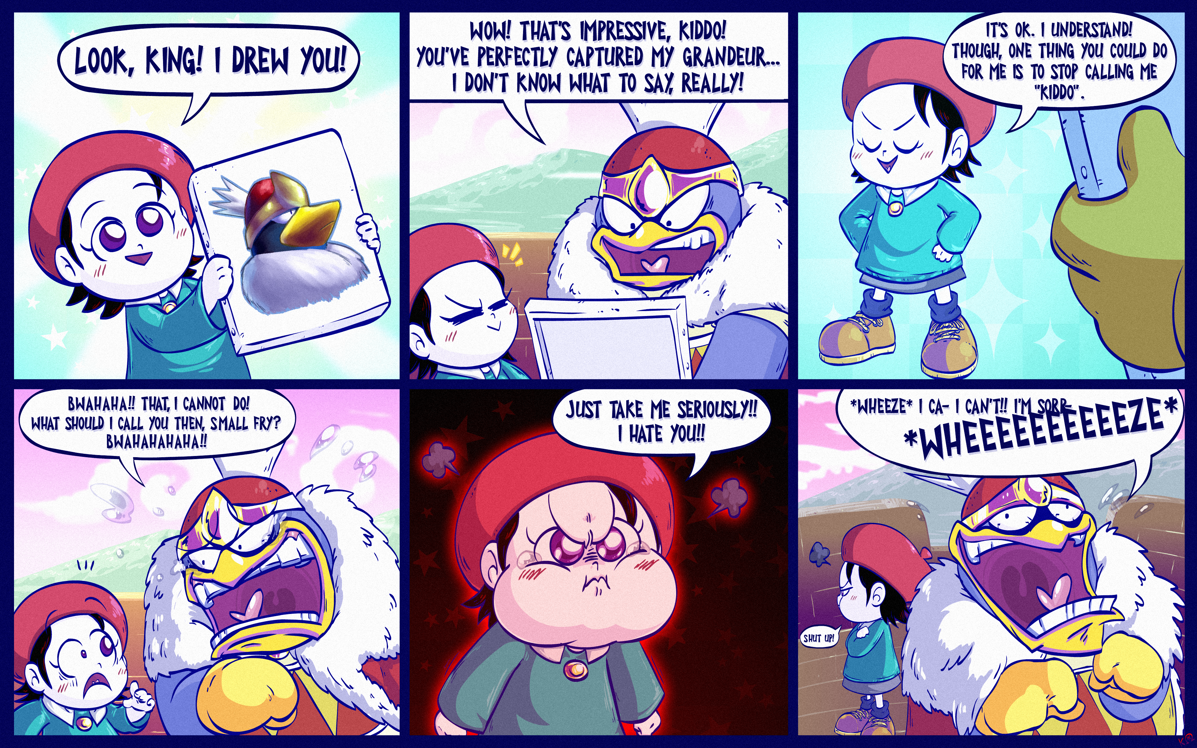 Kirby Guardian Comic 5: A gift for King