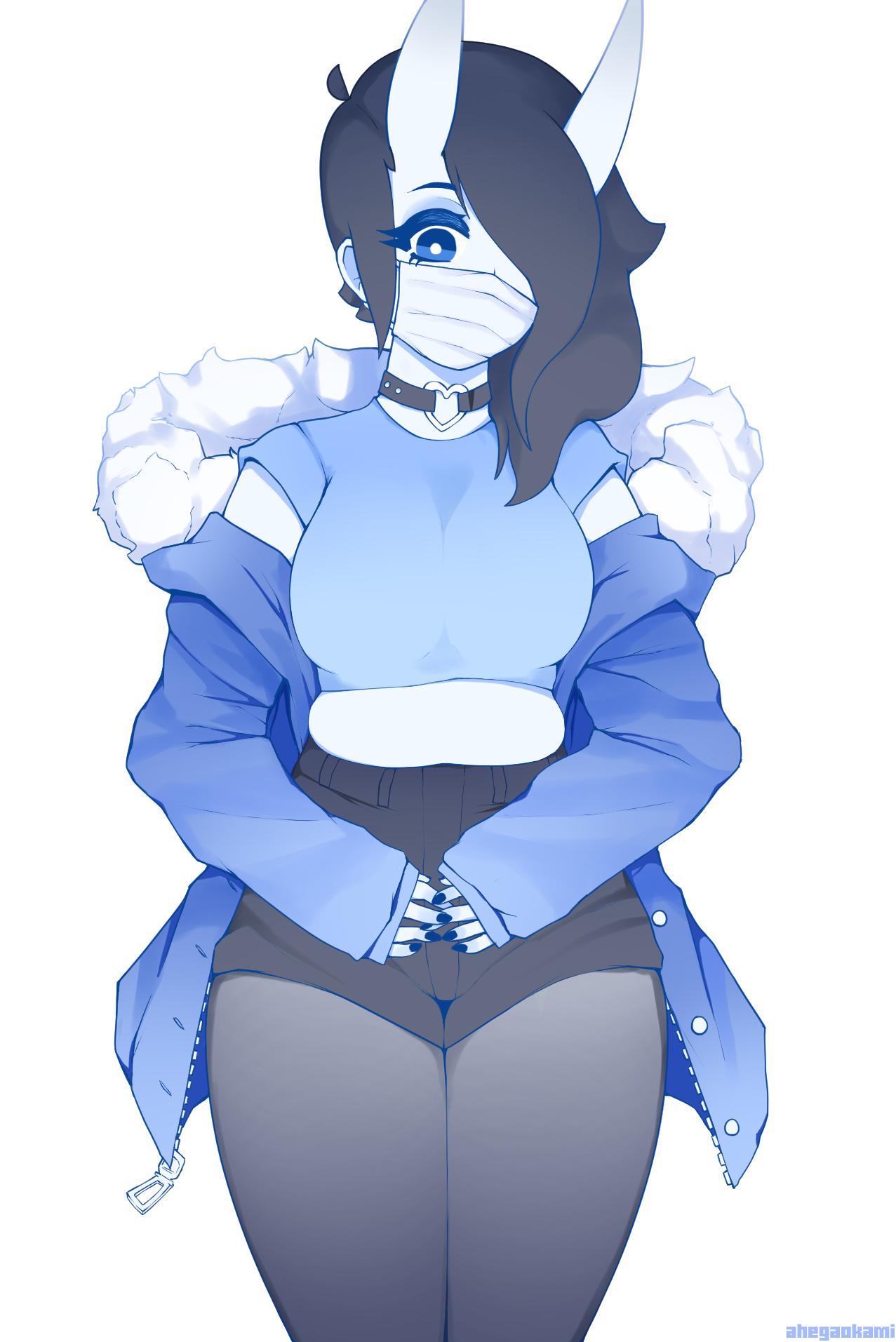 Big coat, small top
