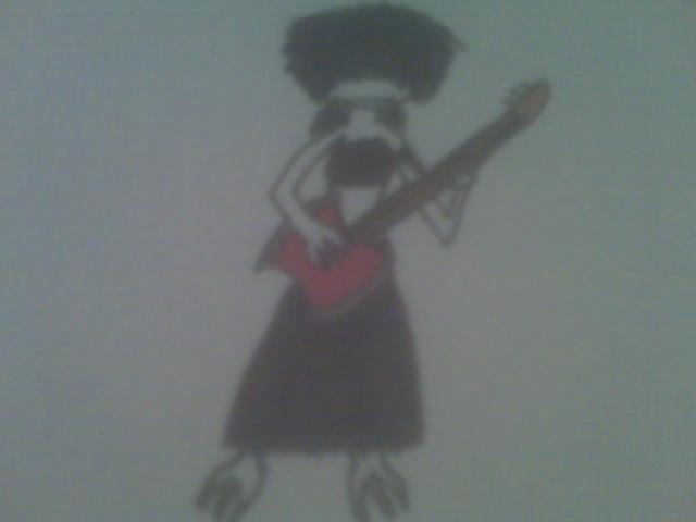 Mara with Marcelene's Axe Bass