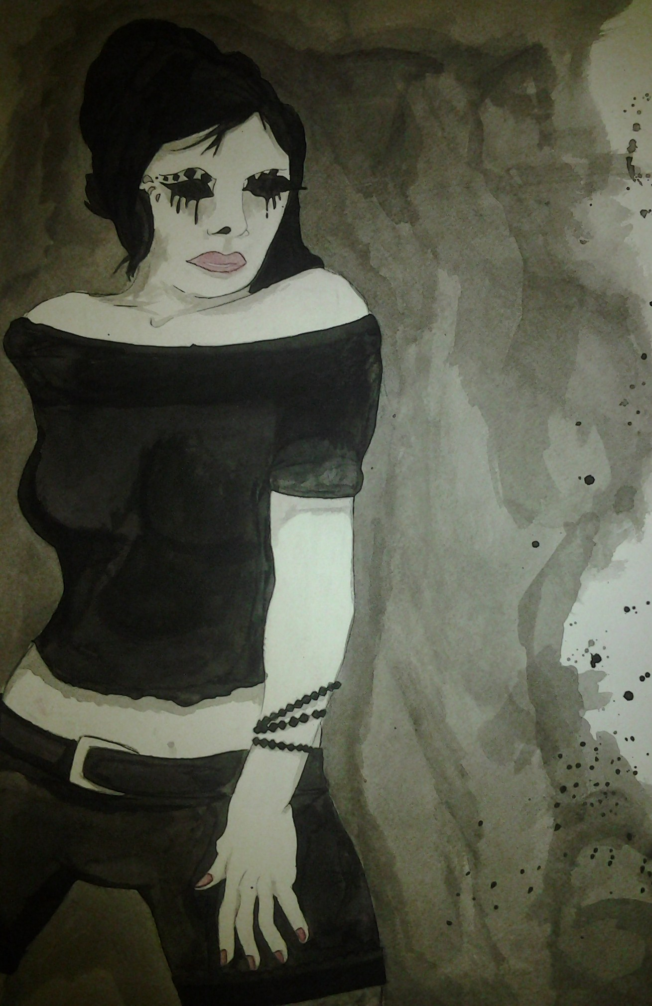 Ink Wash Girl