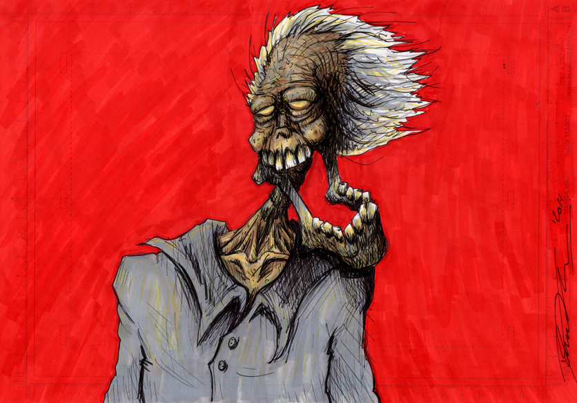 Zombie in the wind