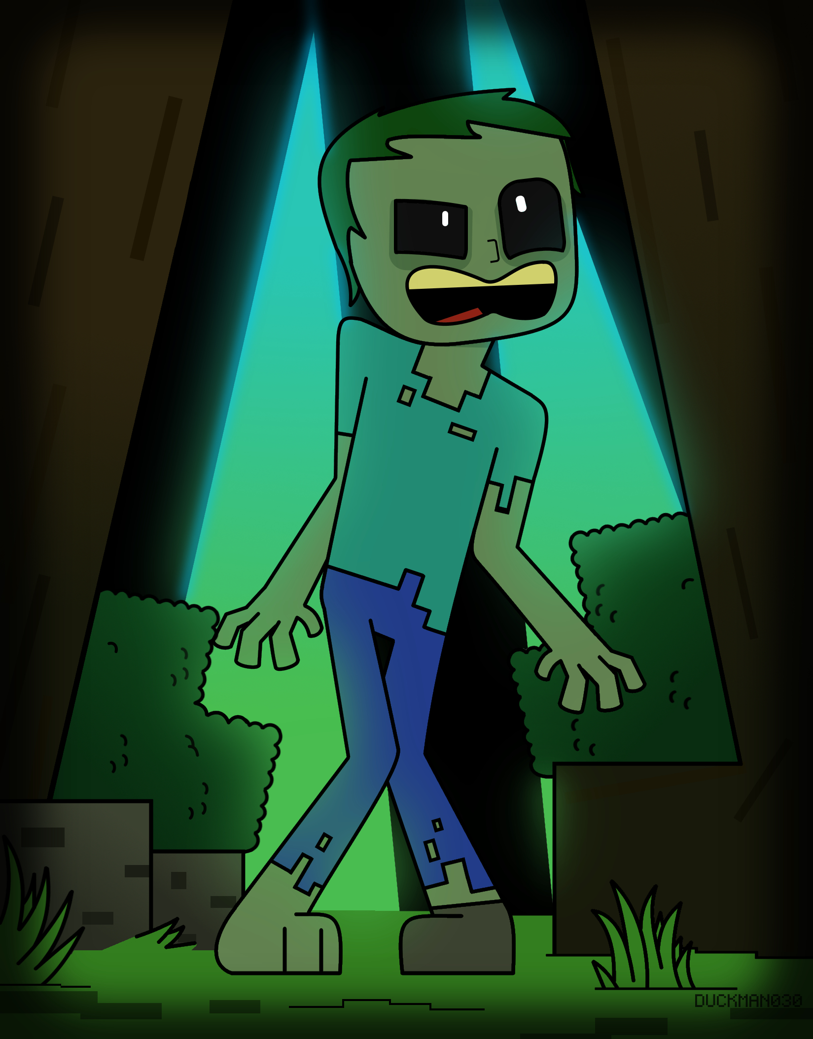 Hey there´s a zombie!
