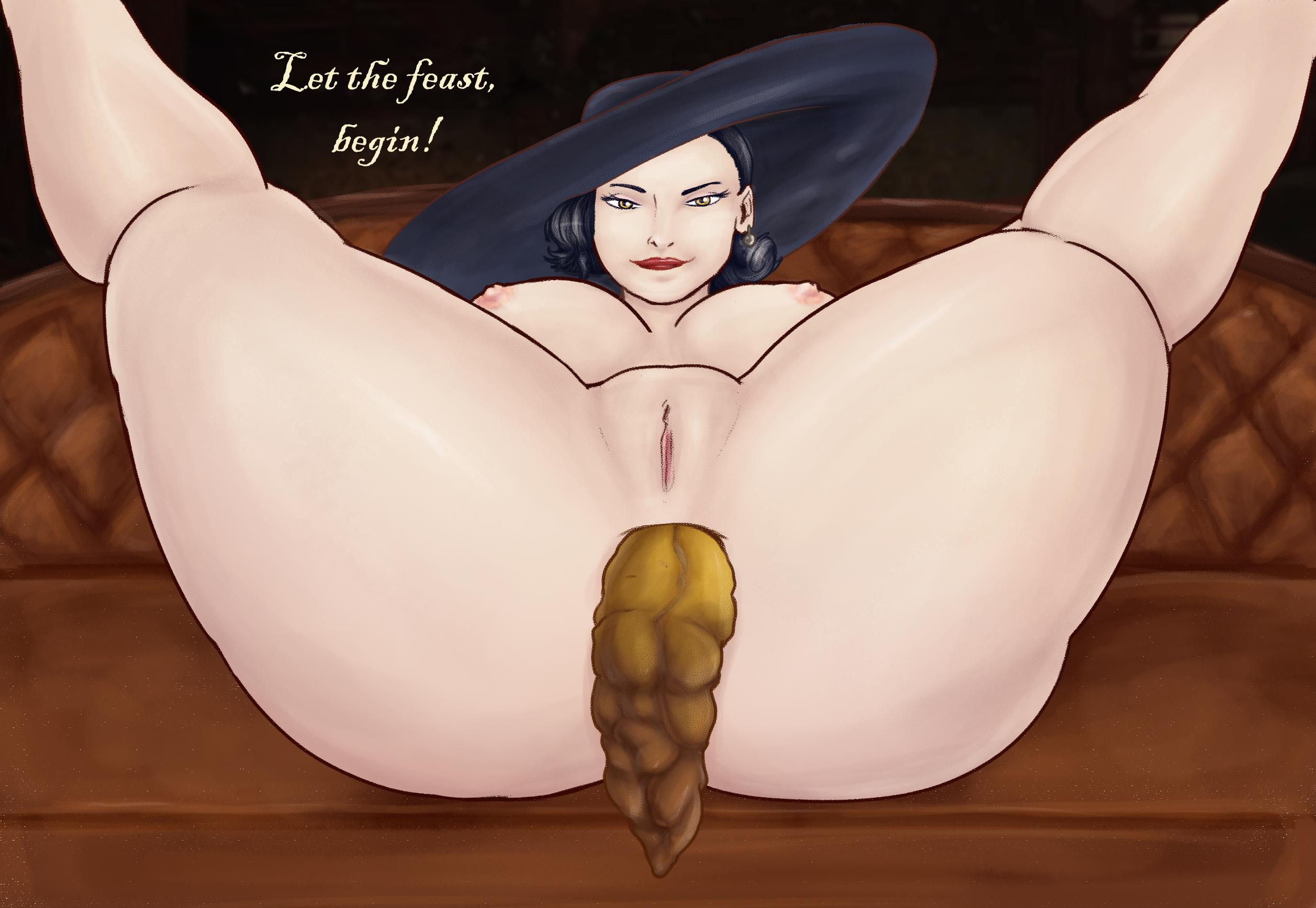Lady Dimitrescu punishing Ethen SCAT