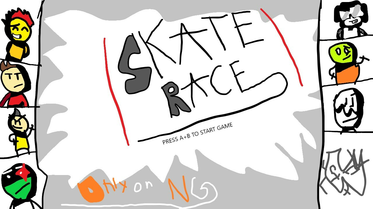 Skate Race Title Screen