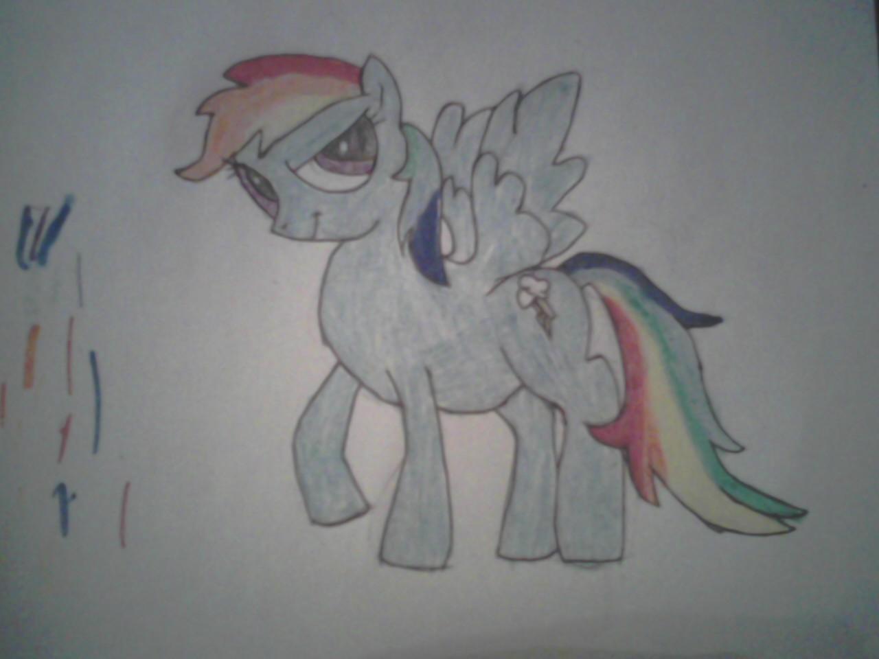 rainbow dash 1st attempt