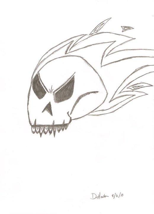 Flaming Skull 8/6/10