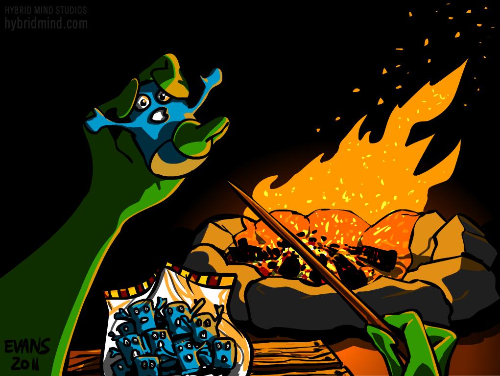 Alien Campfire