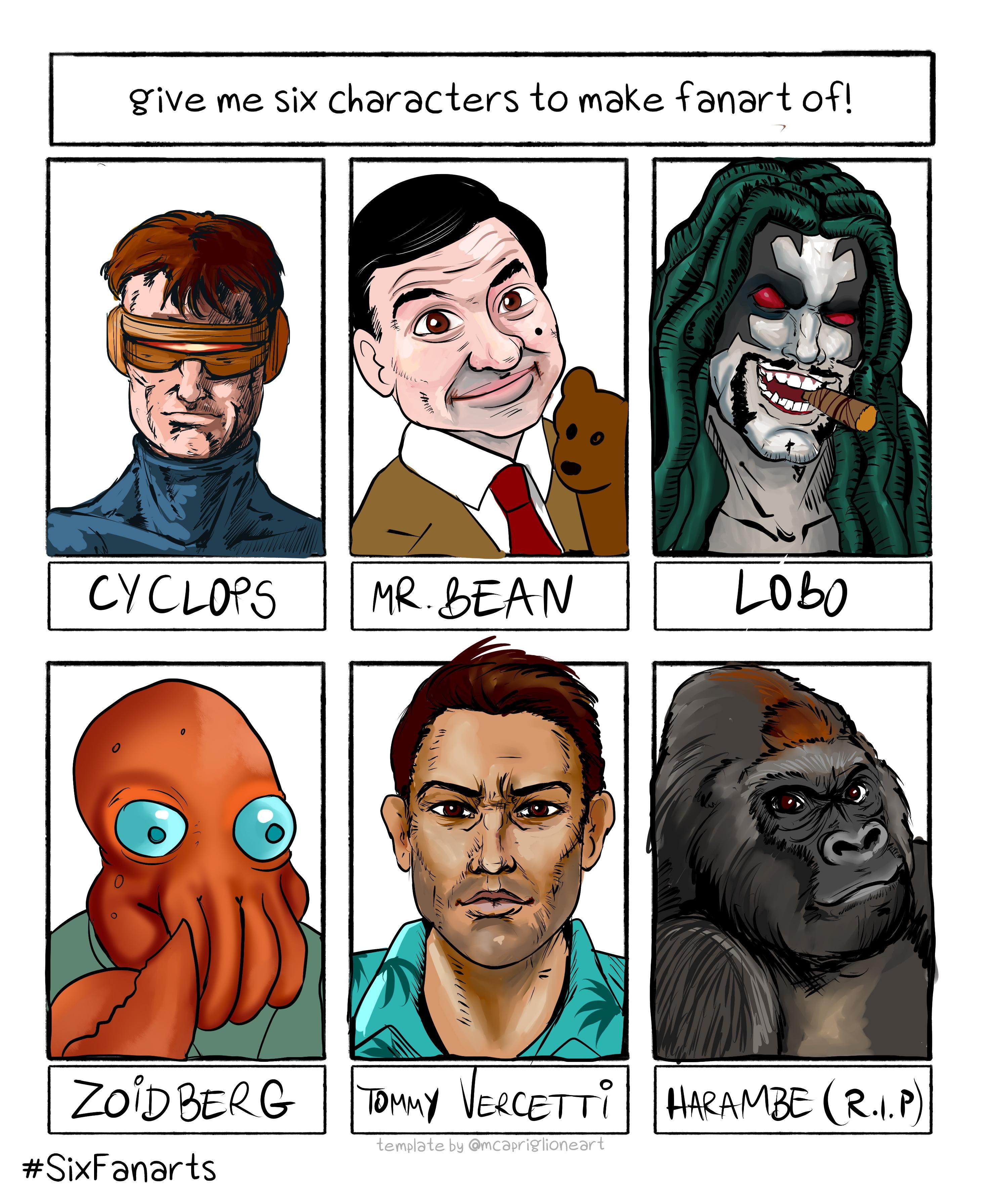 Six Character Challenge