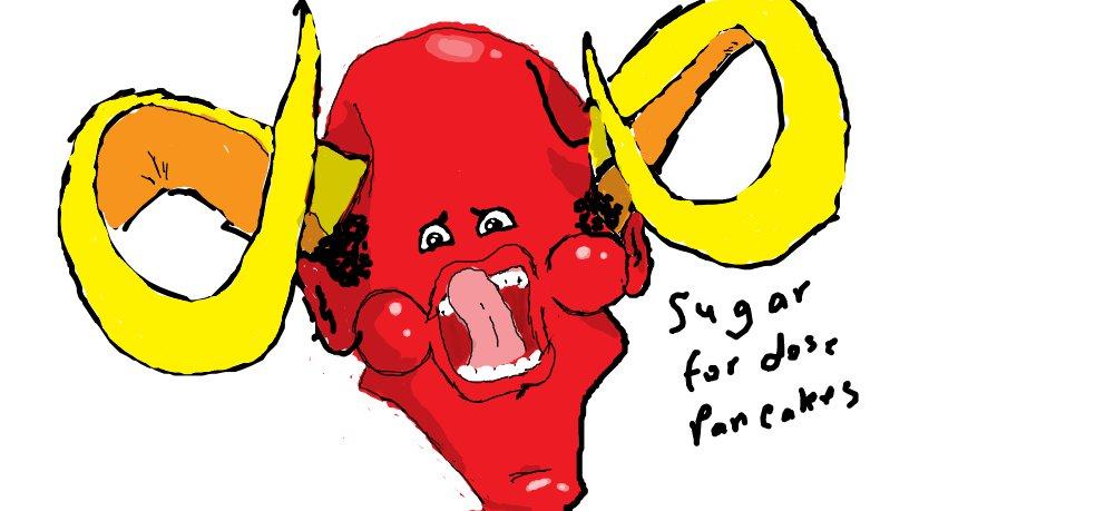 Sugar for dose pancakes