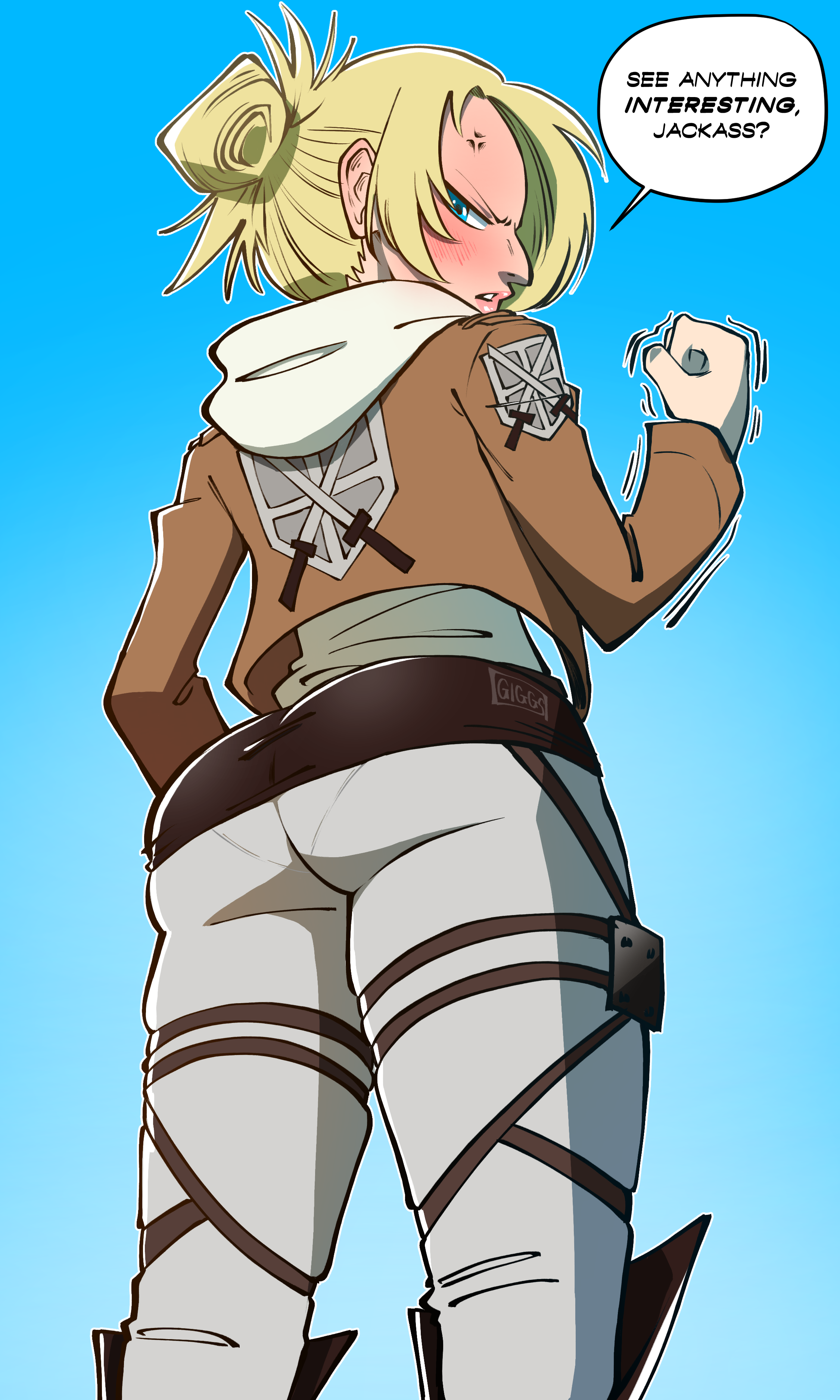 Annie with the fanny - Attack on Titan