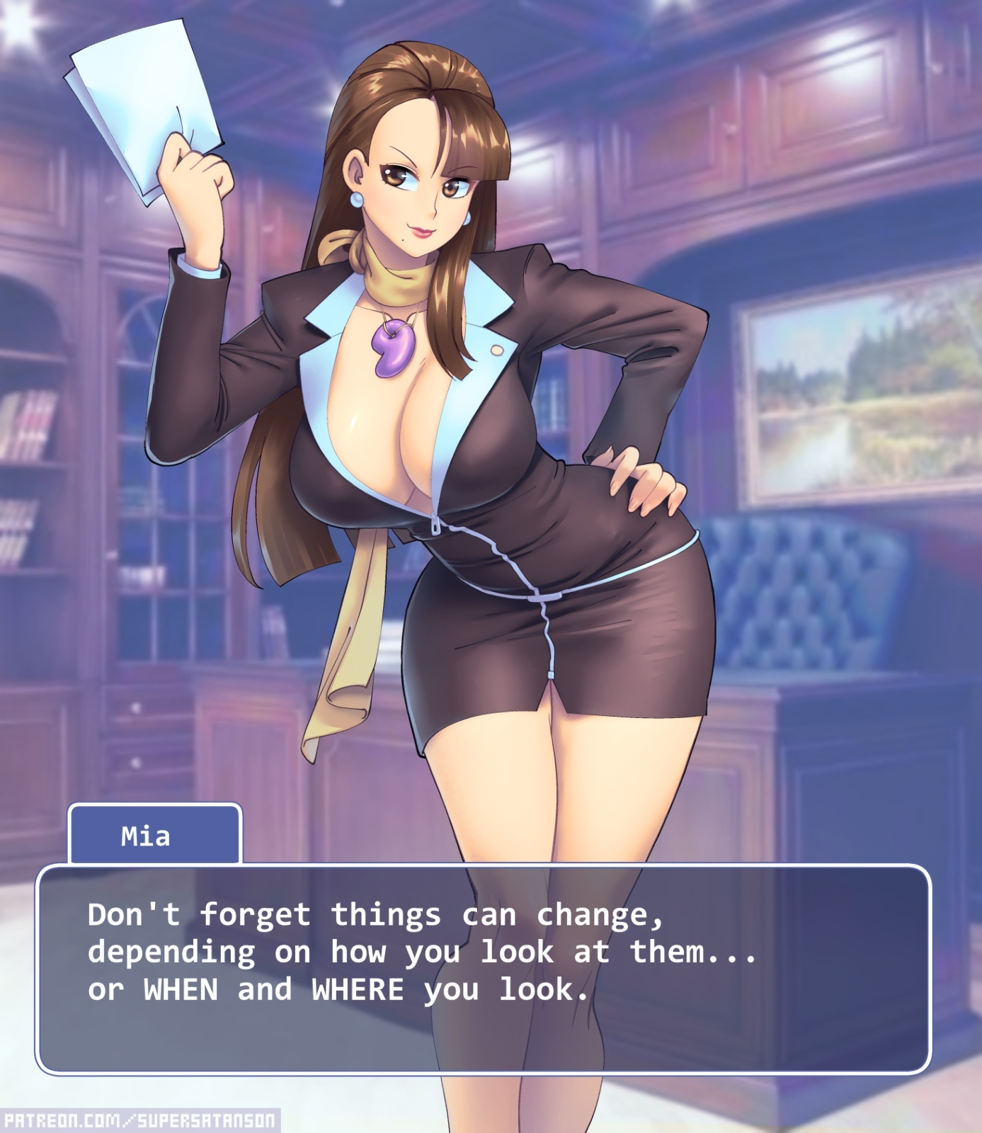 Business suits: Mia Fey