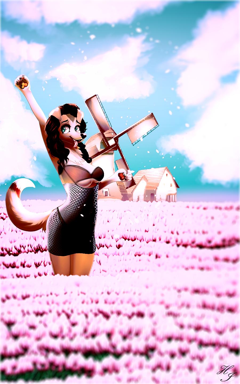 Pink tulip farm reworked