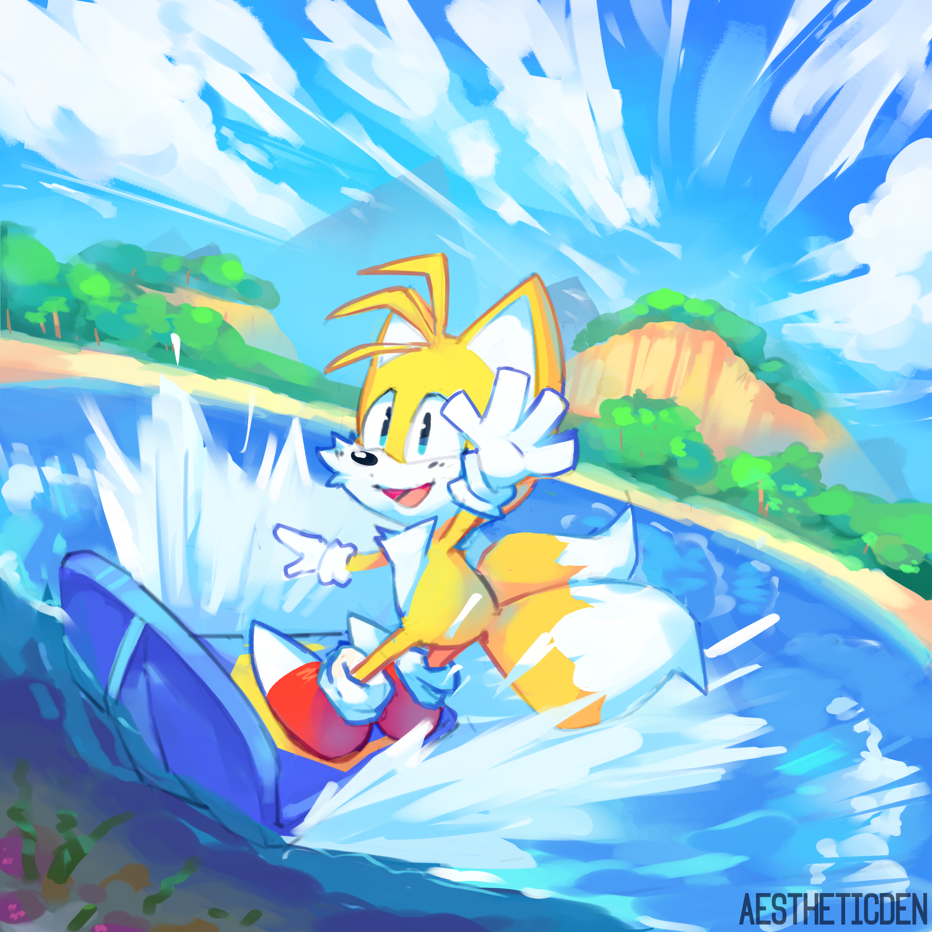 Surfing along the clouds!