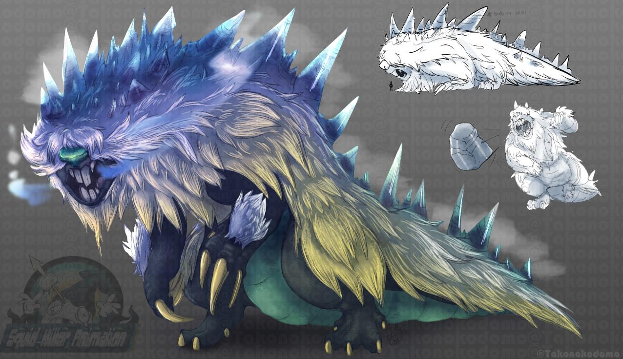 Ice Kaiju Design