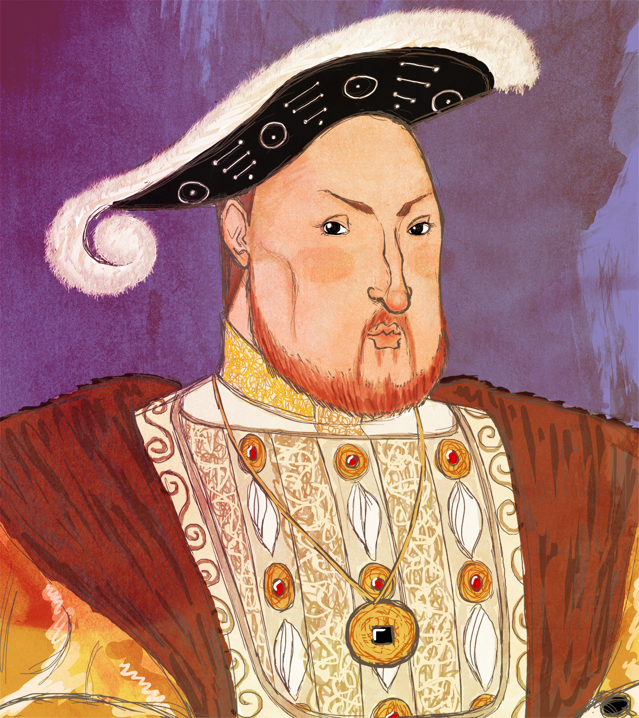 Caricature of Henry the 8th