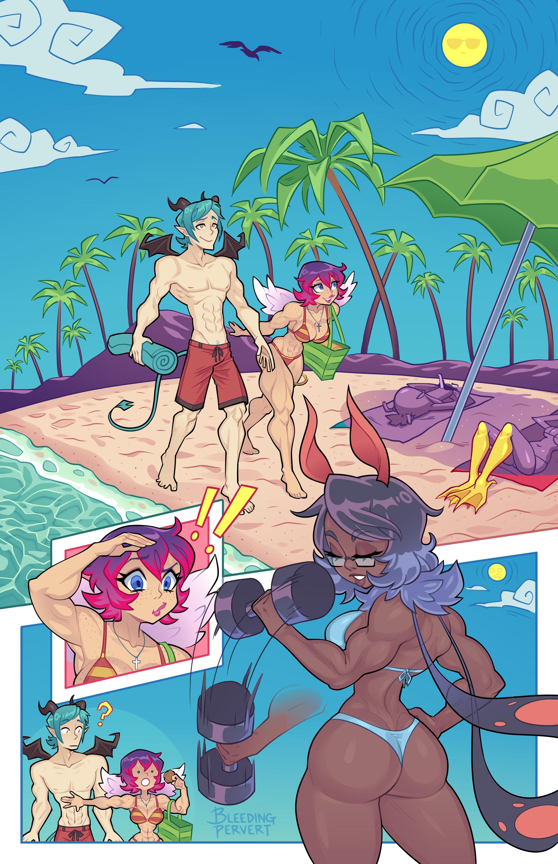 Patreon Commission: Flex Beach Pg 1