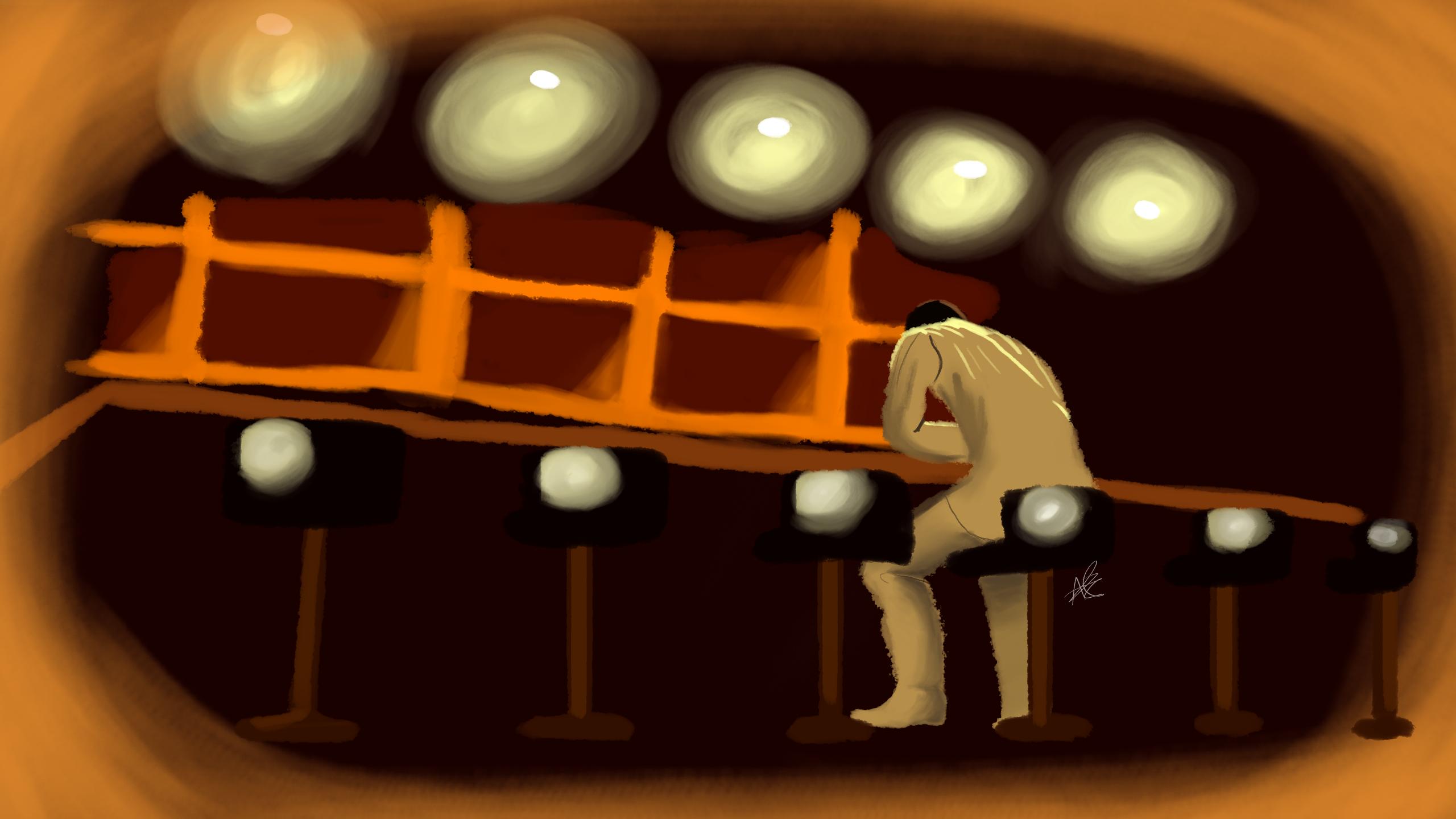 Kiryu At The Bar